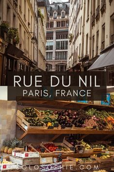 Rue du Nil: A Shopping Street in the 2e Arrondissement, Paris, France
