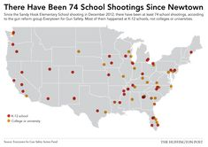 All 74 School Shootings Since Newtown, In One Depressing Map