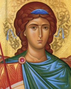 Иконописно-реставрационная мастер.. Archangel Gabriel, Archangel Michael, Byzantine Icons, Byzantine Art, Crafty Angels, Russian Icons, Orthodox Christianity, Color Pencil Art, Religious Icons