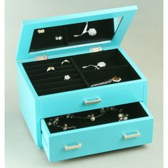 Jewelry Box Closet Armoire Hanging Displays White