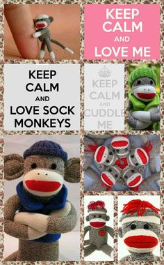 Keep calm and love Sock monkeys by Raquel Allen