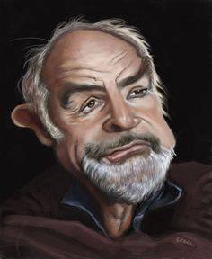 Sean Connery by Scott Jones-McMahon.            ✿ ❀ ❁✿ For more great pins go to @KaseyBelleFox