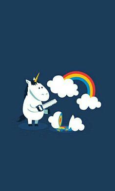 unicorn, rainbow, and clouds Bild