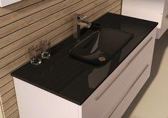 Umywalka szklana/glass washbasin Loka 100 black. #elita #meble #lazienka #kwadro #bathroom #furniture