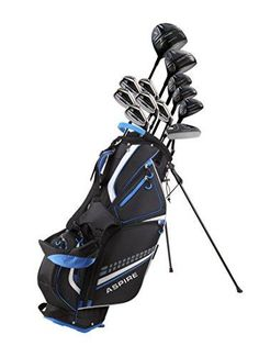 18 piece mens complete golf club package set with