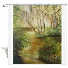 THE POND AT WASHINGTON OAKS Shower Curtain