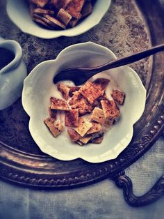 """Paleo Cinnamon Toast Crunch Cereal (I'm leery of this being """"paleo"""" with it using palm sugar - but... Cereal we do not have in Germany that is GF! sign me up!!)"""