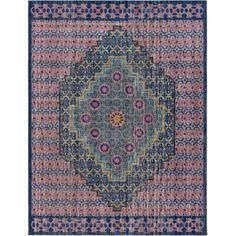 Surya TSE1016-710103 Tessera 8' x 10' Rectangle Synthetic Power Loomed Transitio - Blue