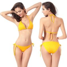 Cheapest Women Bandage Bikini Set 2017 New Solid Sexy Push-up Bra Swimsuit Bathing Suit Swimwear Swim Suit maillot de bain femme