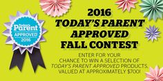 Enter for your chance to win a selection of Today's Parent Approved products, valued at approximately $700.