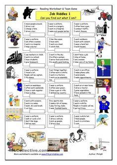 загадки на английском про профессии4
