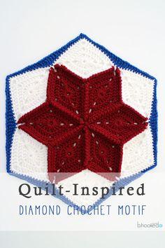 Quilt-Inspired Crochet Star Hexagon