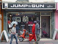 Jump the Gun mod clothes shop, 36 Gardner Street, Brighton, East Sussex East Sussex, Modcloth, Brighton, Mod Clothing, Mod Mod, Guns, Clean Living, Street, Palace
