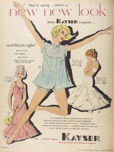 KAYSER RETRO LINGERIE AD 1956 original vintage AUSTRALIAN print advertising   eBay