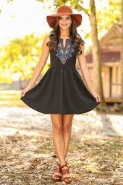 EVERLY:Free To Decide Dress-Black