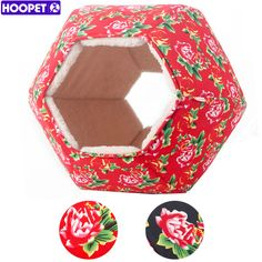Pet Dog Cat Hexagon House Sleeping bed