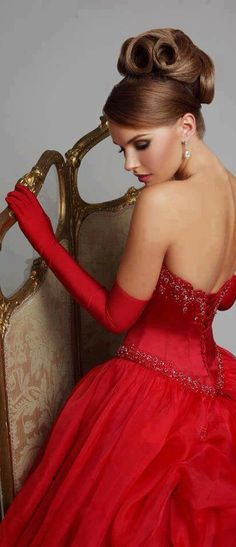 Ball gown strapless lace-up red satin wedding dresses Tiffany Blue, Glamour, Red Fashion, Fashion Beauty, Red Gowns, Glam Girl, Red Wedding, Beautiful Gowns, Lady In Red