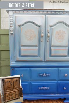 This wardrobe is painted with a handful of Dixie Belle products to create this bright boho look. You can learn the techniques you need to create unique artist furniture finishes for your home! #paintedfurniture #dixiebellepaint #bestpaintonplanetearth Bright Painted Furniture, Refurbished Furniture, Colorful Furniture, Paint Furniture, Repurposed Furniture, Furniture Makeover, Painted Wardrobe, Reupholster Furniture, Dixie Belle Paint