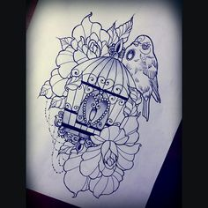 bird cage tattoo - Google-haku