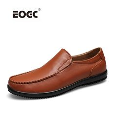 Full grain leather men shoes top quality handmade flats shoes loafers casual leather shoes men