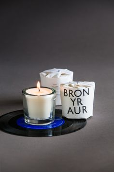 bron yr aur tisane candle | glass votive candles by tatine