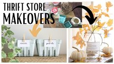 Thrift Store Makeovers ~ Thrift Store Finds ~ Home Decor DIY ~ Thrift St...