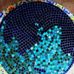 World mosaic table top