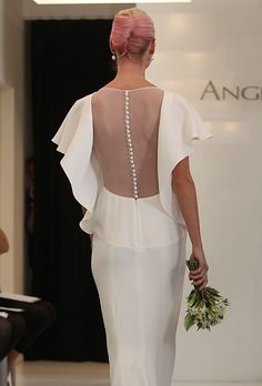 Brides: How to Wear: A Sheer Back : Daring Detail, I know how you like a flippy sleeve
