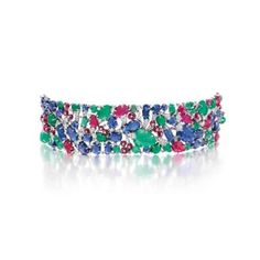 AN ART DECO DIAMOND AND MULTI-GEM ''TUTTI FRUTTI'' BRACELET, BY CARTIER | 1930s, Jewelry | Christie's