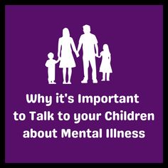 GUEST POST: Why it's Important to Talk to your Children about Mental Illness by Sherry | Bipolar Bandit