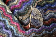 Noro Silk Garden yarn - ripple crochet