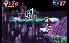 Rayman - Blue Mountains - The Hard Rocks - Cage 1.gif