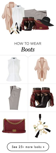 """""""Boots"""" by jaamieksa on Polyvore featuring AG Adriano Goldschmied, Alexander Wang, Chanel, Topshop, Dsquared2, Oscar de la Renta, women's clothing, women's fashion, women and female"""
