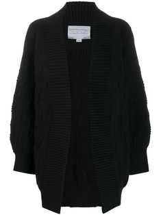 Shop I Love Mr Mittens Chunky Knit Cardigan In 黑色 from stores. Black wool chunky knit cardigan from I Love Mr Mittens featuring an open front, long sleeves and a ribbed hem and cuffs. Chunky Knit Cardigan, Black Cardigan, Sweater Cardigan, I Love Mr Mittens, Black Wool, Women Wear, Knitting, Long Sleeve, Sleeves