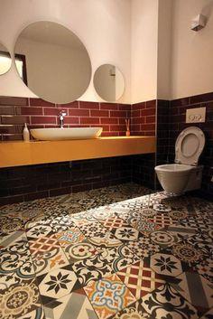 boho home decor - decorative floor tiles