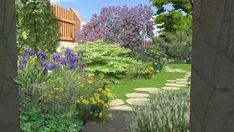 Zahrada u vily z počátku 20. století - Letem květem #flowergarden #garden #familygarden #landscapearchitect  #praque #zahradniarchitekt #praha #zahrada #moderngarden #rodinnazahrada #czechgarden #letemkvetem #mywork Praha, Plants, Plant, Planets