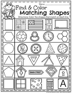 Looking for awesome shapes worksheets and games to use in your classroom? This and Shapes - Kindergarten Math Unit is filled with hands-on activities and no-prep worksheets to help children learn about and use shapes. 3d Shapes Worksheets, Shapes Worksheet Kindergarten, Subtraction Kindergarten, Kindergarten Math Worksheets, Preschool Learning Activities, Preschool Math, In Kindergarten, Teacher Worksheets, Material Didático