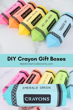 Crayon and Pencil Gift Boxes for Teacher Gifts. Free crayon, pencil and colored pencil foldable paper boxes. flowers videos Crayon Paper Gift Boxes for Teacher Appreciation Gifts Paper Gift Box, Diy Gift Box, Paper Boxes, Paper Gifts, Gift Boxes, Diy Paper Box, Teacher Stickers, Teacher Cards, Diy Crayons