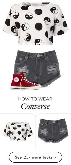 """""""Untitled #1231"""" by kayla3n on Polyvore featuring Être Cécile, Glamorous and Converse"""