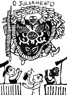 taro_sobreotatame Tarot Major Arcana, Arte Popular, Outsider Art, Archetypes, Tarot Cards, Witchcraft, Cool Art, Folk, Playing Cards