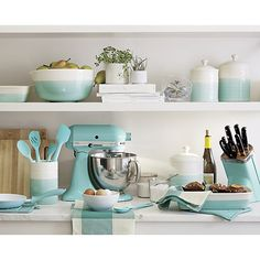 Kitchen Collection All About Aqua Turquoise Kitchen