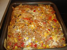 Creamy Chicken Lasagna, and add red peppers to the recipe? Tasty Lasagna, Chicken Lasagna, Cheese Lasagna, Lasagna Recipes, Lasagne Light, Food Dishes, Main Dishes, Chicken Broth Can, Ravioli
