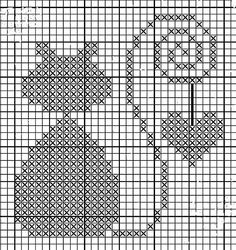 ru / Foto n. 2 – The Perfect Wrong Side (MK) – Jozephina Hexagon Quilt Pattern, Crochet Cat Pattern, Baby Knitting Patterns, Crochet Alphabet, Cross Stitch Alphabet, Cross Stitch Animals, Cross Stitching, Cross Stitch Embroidery, Cross Stitch Patterns