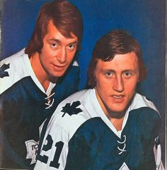 Inge Hammarstrom and Borje Salming in Hockey Pictures, Toronto Ontario Canada, Wayne Gretzky, Good Old Times, Nhl Players, Hockey Games, Nfl Fans, National Hockey League, Toronto Maple Leafs