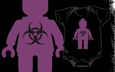 """""""Minifig with Radioactive Symbol by Customize My Minifig"""" Kids Clothes by ChilleeW   Redbubble"""