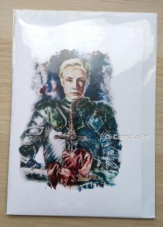 Game of Thrones Card.GOT Fan Art.Brienne card.Game of Thrones Birthday Card.Game of Thrones Gift.Bri