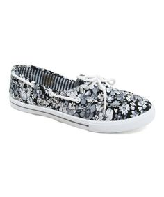Look at this #zulilyfind! Gray Floral Delight Sneaker #zulilyfinds