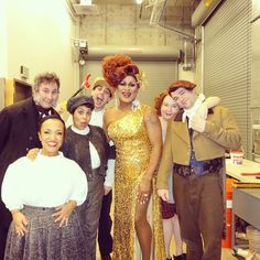 The one and only Poison Waters(!!!!) with the cast of TWIST YOUR DICKENS before her guest appearance during last night's show. #flawless #SheWokeUpLikeThis #pdx #pcsproud