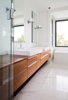 modern master bathroom - contemporary - bathroom - vancouver - Natural Balance Home Builders