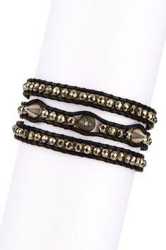 Chan Luu Pyrite Stud Wrap Bracelet